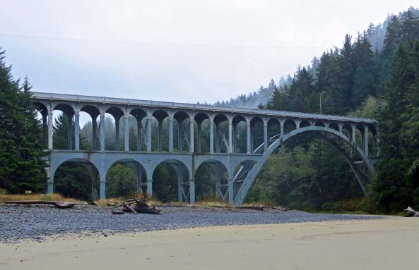 Cape Creek Bridge in Lane County on the Oregon Coast.