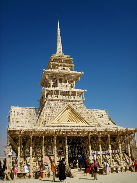 A Burning Man Temple built by David Best and volunteers.