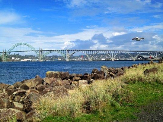 Yaquina Bay Bridge near Newport, Oregon.
