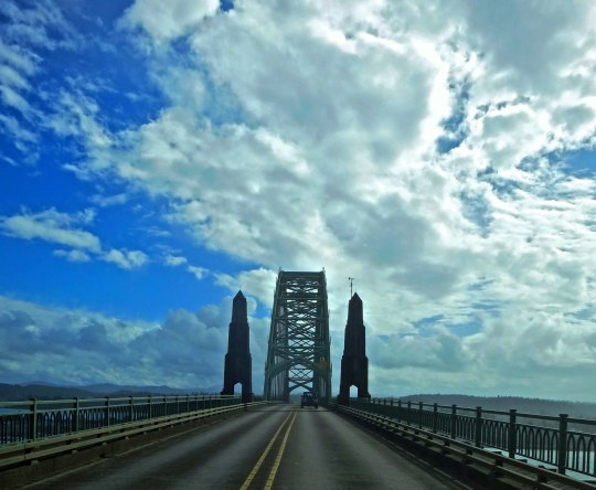 One of many bridges designed by Conde McCullough in the 1930s Yaquina Bay Bridge is located next to Newport on the Oregon Coast.