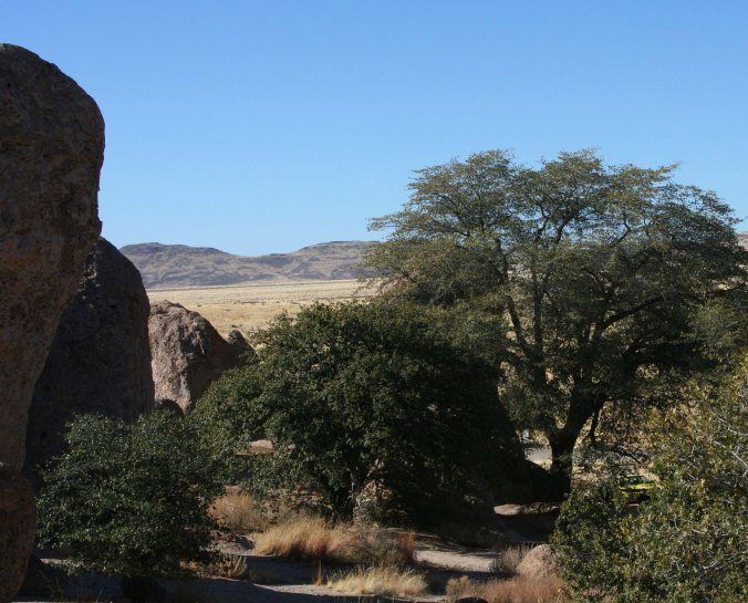 This is an example of one of the campsites hidden among the rocks.