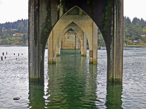 Siuslaw Bridge on the Oregon coast.