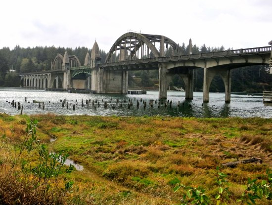 Suislaw Bridge on the Oregon coast designed by Condi McCullough.