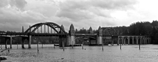 Siuslaw Bridge near Florence, Oregon.