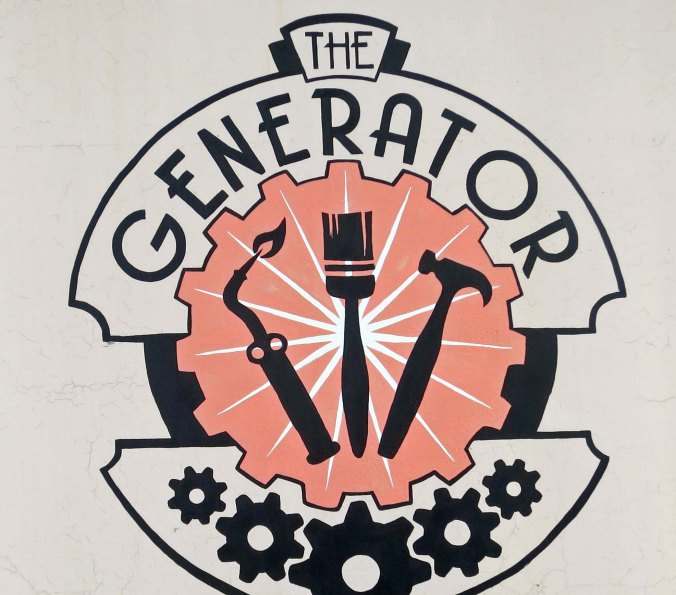 Logo of the Generator warehouse in Reno Nevada.