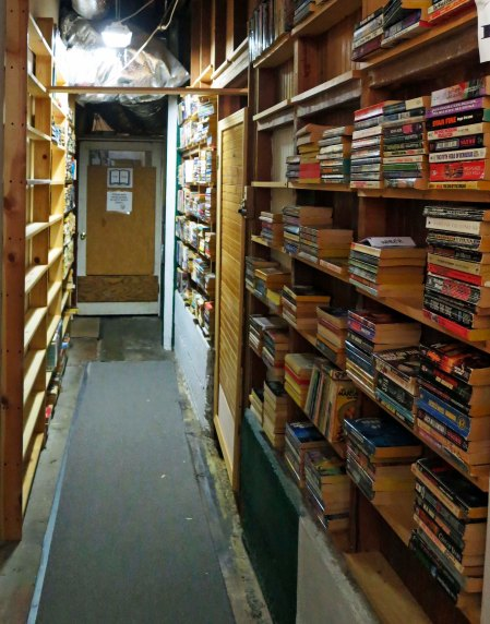 Where we found a virtual maze of book shelves and long corridors with mysterious doors and signs.