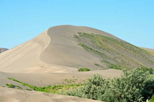 Having hiked around to the opposite side the lake, we were rewarded with a view of the dune.
