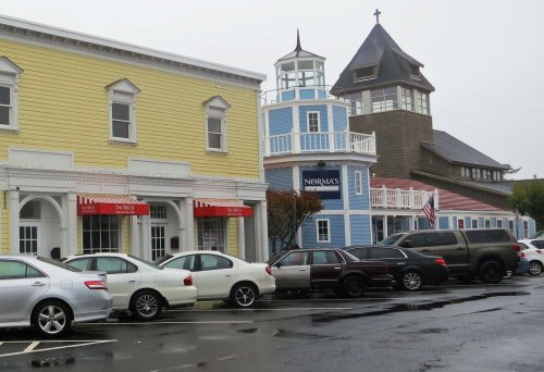 A touch of Seaside's glory days can be seen in these buildings along Broadway Street.