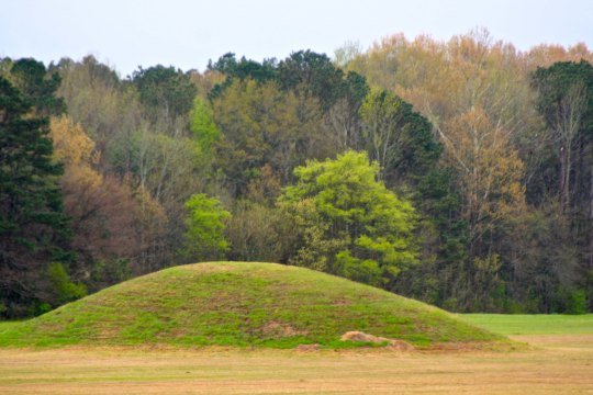 The Phar Mounds located north of Tupelo, Mississippi were left behind by nomadic Native Americans some where between 1-200 AD as burial mounds.