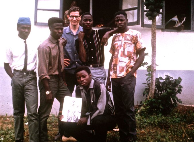 This is my senior class. Mamadee is second form the left. Later he would become an elementary school principal in New Jersey.