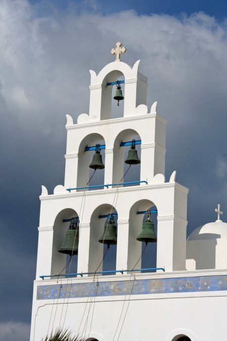 The church's bell tower. (Photo by Peggy Mekemson.)