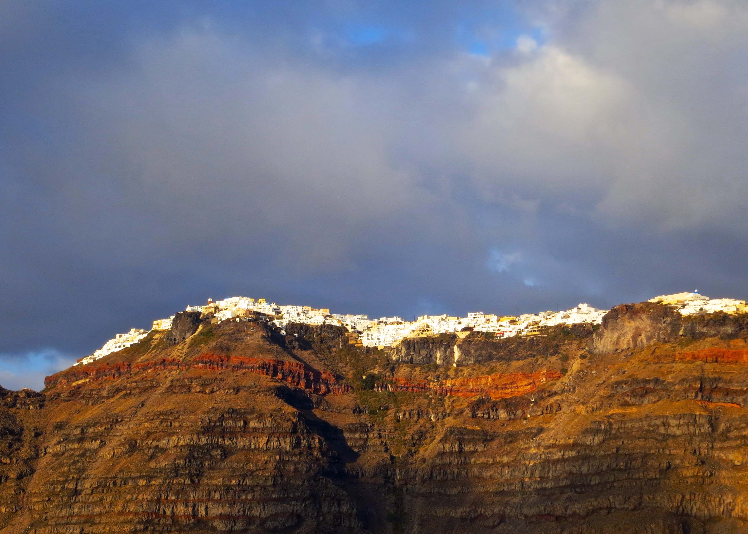 santorini a photographer s paradise the wednesday photo essay this photo provides a perspective on how high the small communities of santorini perch above the