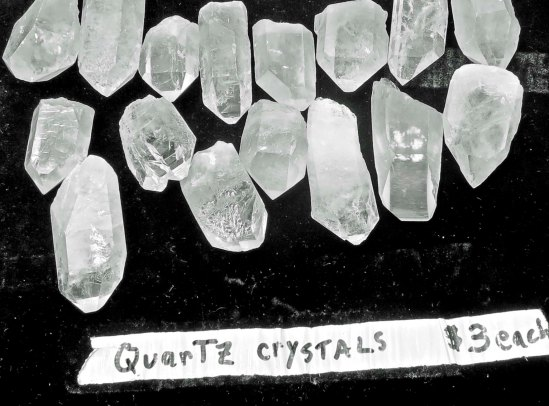 Crystals on Telegraph