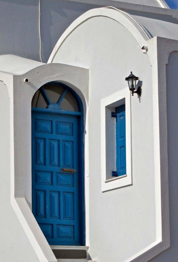 I really like painted doors.