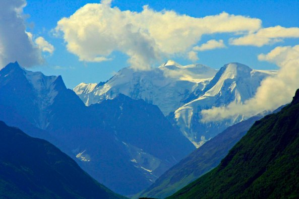 These mountains were near the Matanuska Glacier, easy driving distance from Anchorage.