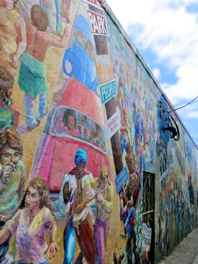 Murals have been used to reflect local history and political protest.