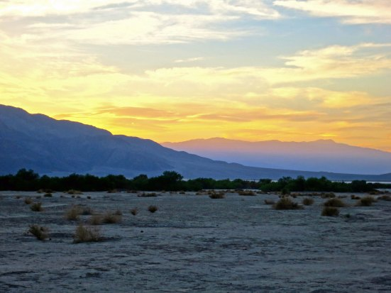 I walked out from my campsite in Death Valley as the sun set and listened to coyotes howl in the distance.