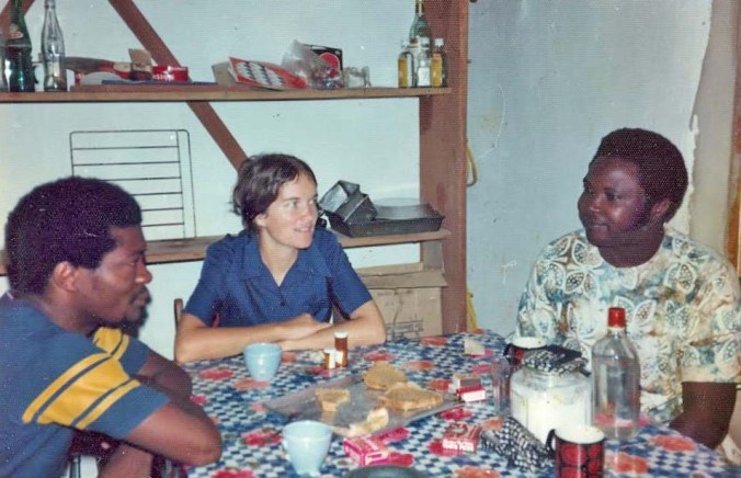 Stephanie in her role as Peace Corps Trainer in Liberia, 1973.
