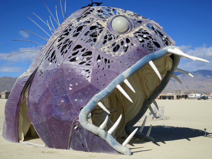Do you think this Burning Man fish is scary...