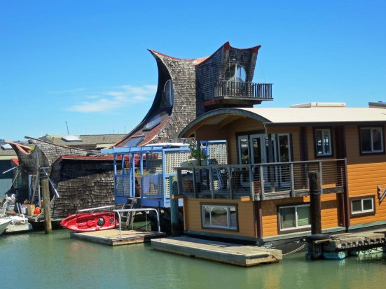 Some of the fun houseboats in Sausalito just north of San Francisco.
