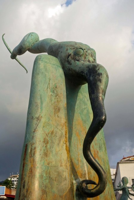 Unique, often humorous art, along Puerto Vallarta's Malecon is one of several attractions that make the walkway appealing.