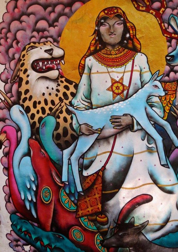 1. Mystical mural of animals in Puerto Vallarta
