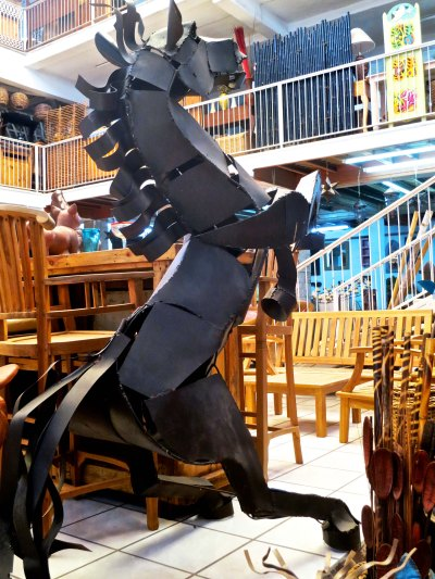 10. Life sized horse at Puerto Vallarta furniture store