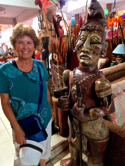 12. Peggy and scuplture at Puerto Vallarta furniture store
