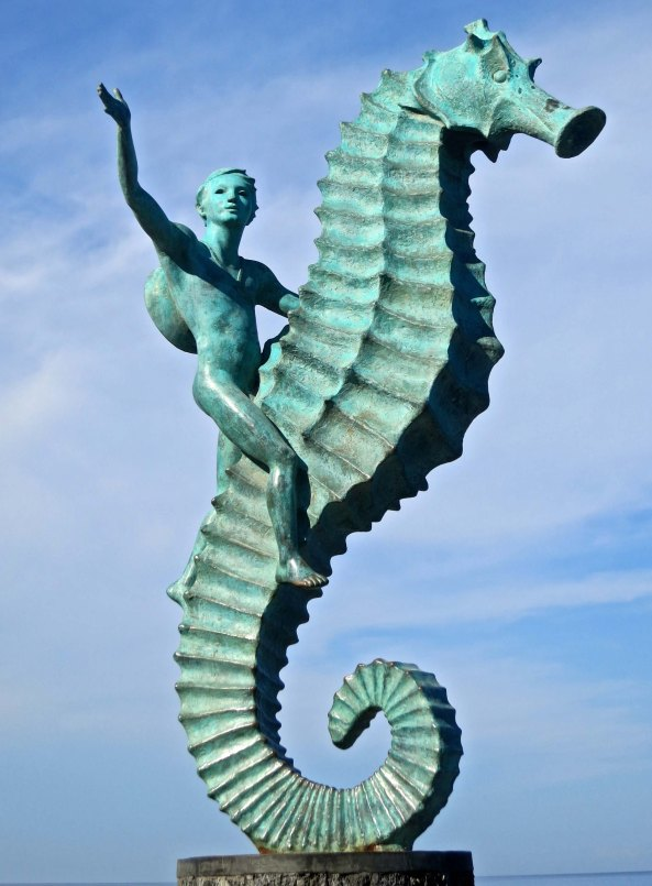 It is appropriate to end this blog on Puerto Vallarta's Malecon with the statue of a boy on a seahorse, the symbol of Puerto Vallarta.