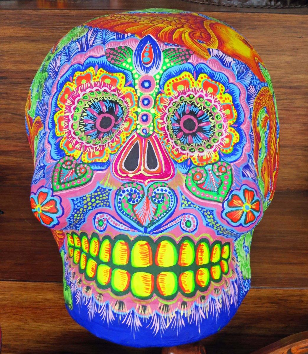 Skull art found in Puerto Vallarta.