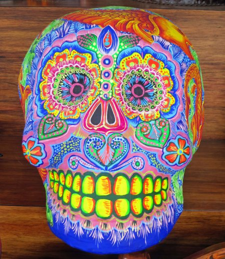 Skull art found in Puerto Vallarta.
