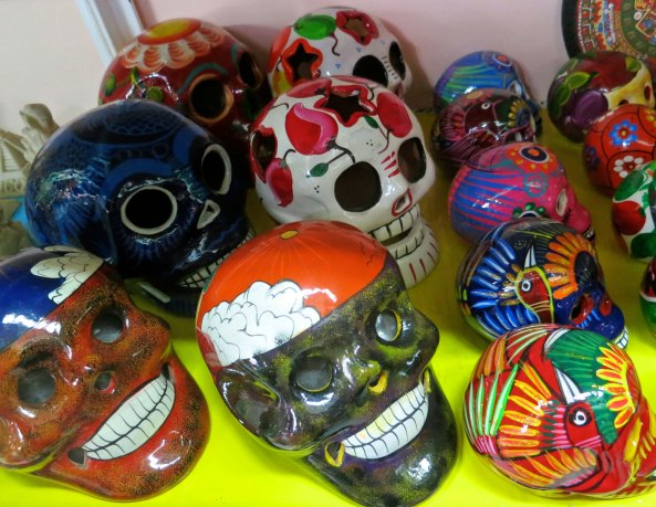 An army of skulls found in the Municipal Market of Puerto Vallarta.