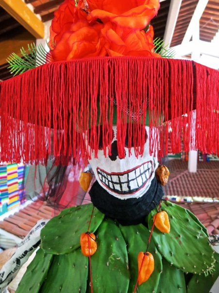 We found this Catrina with her frilly hat at the Municipal Market.