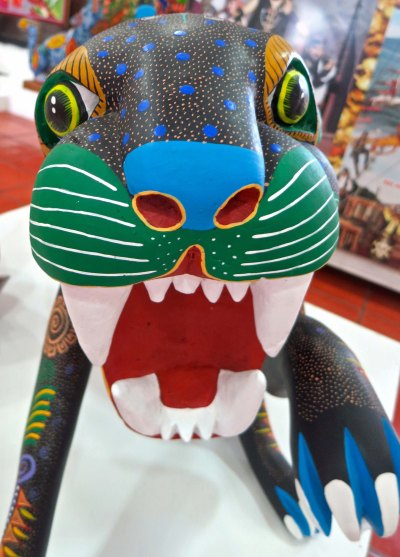 Another Oaxaca cat with big teeth.