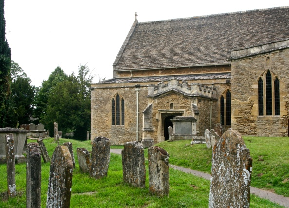 The Bampton chapel and cemetery was the site of the weddings featured in Downton Abbey.