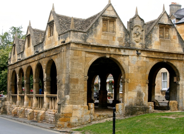 The historical market in Chipping Campden.