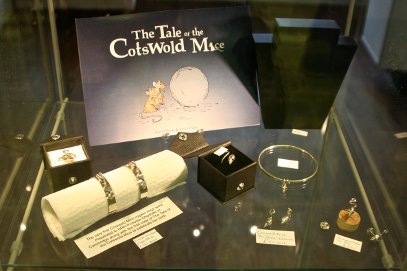 The Tale of the Cotswold Mice along with two napkin rings were presented to Princess Charlotte after her birth.