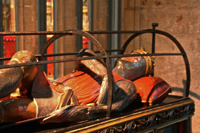 A knight's tomb inside the Cathedral.