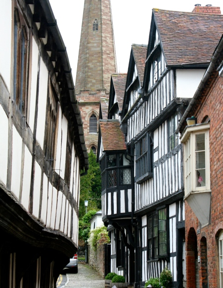 I loved the winding streets in Ledbury with their surprising views, such as the church.