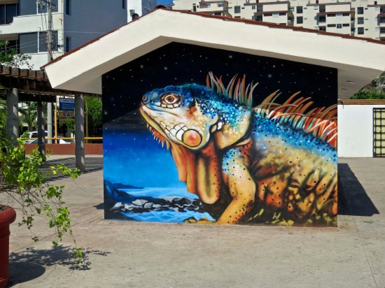 We found this large mural of an iguana in Old Town Puerto Vallarta.