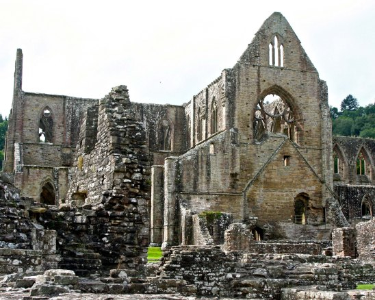 Our first view of the ruins of Tintern Abbey.