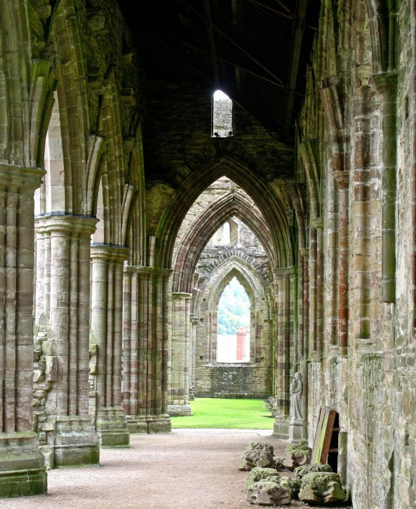 Tintern Abbey grand hallway