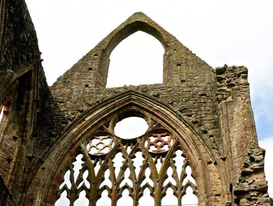 Tintern Abbey sky view