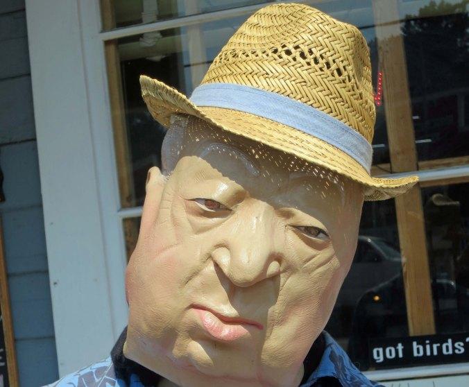 1 Alfred Hitchcock mannequin in Bodega California