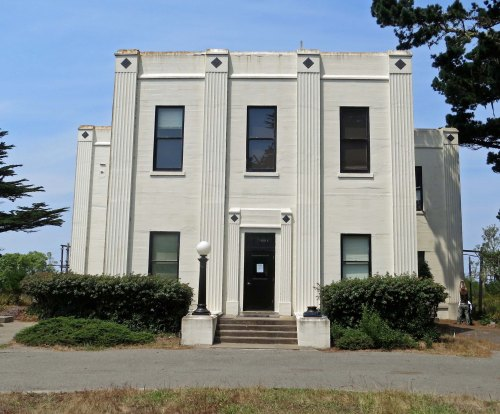 The lovely art deco building built by Marconi-RCA for its telegraph receiving station at Point Reyes National Seashore.