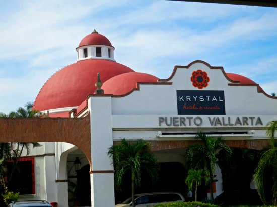 A view of our hotel. When we started going to Puerto Vallarta, the Krystal stood side by side with one-two story buildings. Now surrounding skyscrapers have destroyed the ambience.