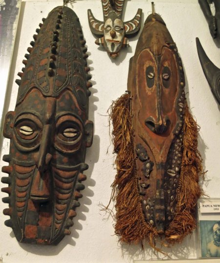 A close up of the masks.