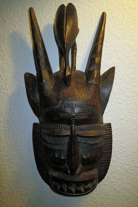 12 African mask from Ivory Coast owned by Curtis Mekemson
