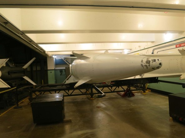 Each of the 300 Nike missile sites around the US had several Nike missiles ready to fire off in 15 minutes to take down Russian bombers.