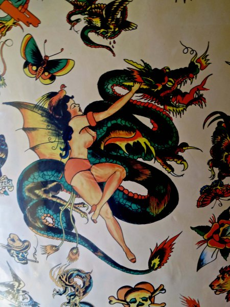 Or even a dragon with a scantily clad woman.